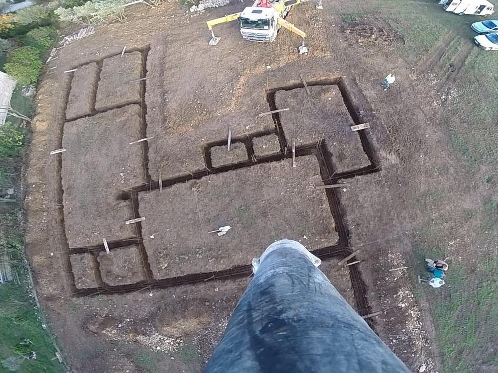 Terrassement implantation et fondations de notre maison - Temps de sechage fondation maison ...